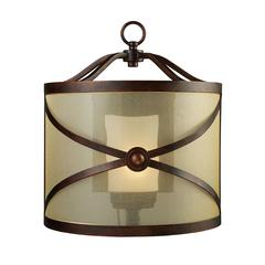 ELK lighting Cumberland 1 Light Wall Sconce In Classic Bronze