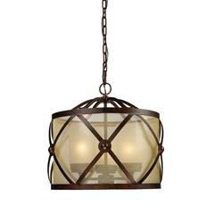ELK lighting Cumberland 3 Light Chandelier In Classic Bronze