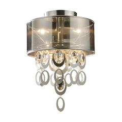 Parisienne 2 Light Wall Sconce In Silver Leaf