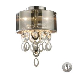 ELK lighting Parisienne 2 Light Wall Sconce In Silver Leaf - Includes Recessed Lighting Kit