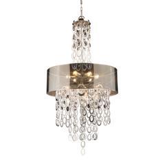 Parisienne 6 Light Pendant In Silver Leaf