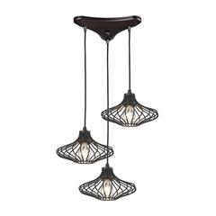 ELK lighting Yardley 3 Light Pendant In Oil Rubbed Bronze