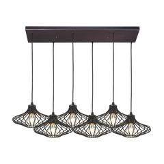 ELK lighting Yardley 6 Light Pendant In Oil Rubbed Bronze