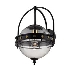 Encompass 1 Light Sconce In Oil Rubbed Bronze And Clear Glass