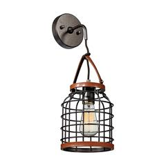Purcell 1 Light Wall Sconce In Weathered Iron