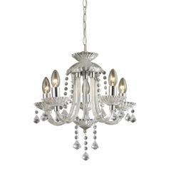 Sterling Kessock-5 Light Mini Chandelier In Clear And Chrome