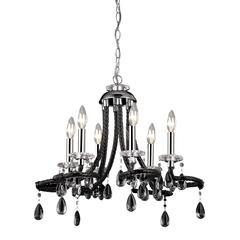 Sterling Black Acrylic Mini Chandelier