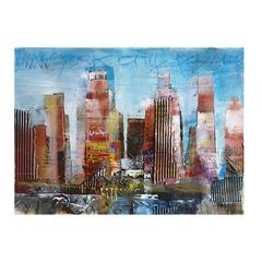 Sterling Exclusive Alberto De Serafino Print On Stretched Canvas With Hand Painted Embellishments