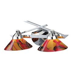 ELK lighting Refraction 2 Light Vanity In Polished Chrome And Jasper Glass