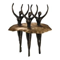 Sterling Ballerinas Sculpture