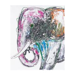 Sterling Bold  Elephant - Oversized Oil On Canvas