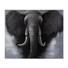 African Elephant - Oversized Oil On Canvas