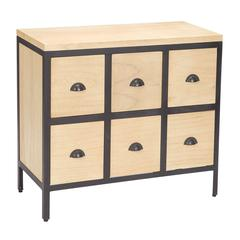Chest 6 Drawers With Iron Frames