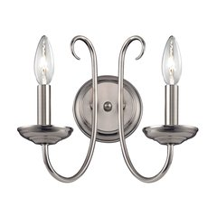 Williamsport 2 Light Wall Sconce In Brushed Nickel
