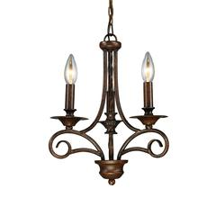ELK lighting Gloucester 3 Light Chandelier In Weathered Bronze