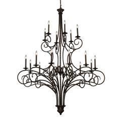 ELK lighting Gloucester 18 Light Chandelier In Weathered Bronze