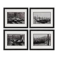 Waterways Of Venice I, II, III, IV - Print Under Glass