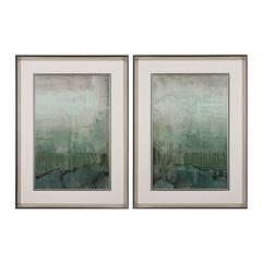 Emerald Sky I, II - Limited Edition Print On Fine Art Paper Under Glass