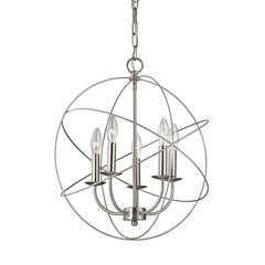 Cornerstone Williamsport 5 Light Chandelier In Brushed Nickel