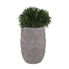 Lazy Susan Large Aged Powdered Lotus Petal-Carved Pot