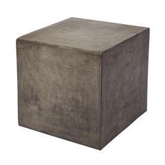 Lazy Susan Concrete Cube Table