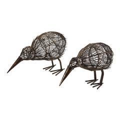 Decorative Kiwi - Set of 2 Bronze
