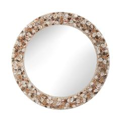 Lazy Susan Round Shell Mirror
