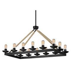 Pearce 14 Light Chandelier In Matte Black