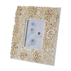 Natural Shell Flower Pattern 5x7 Frame