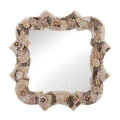 Lazy Susan Square Antoinette Shell Mirror