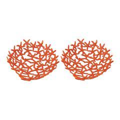 Lazy Susan Hand Forged Orange Starfish Bowl