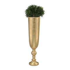 Lazy Susan Narrow Urn Gold Leaf Planter