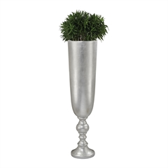 Narrow Urn Silver Leaf Planter