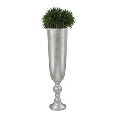 Lazy Susan Narrow Urn Silver Leaf Planter