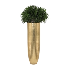 Lazy Susan Oversized Oval Planter in Gold Leaf