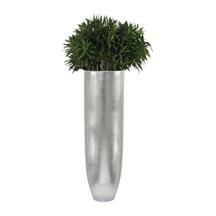 Lazy Susan Oversized Oval Planter in Silver Leaf