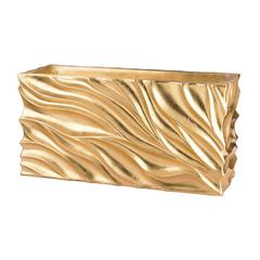 Swirl Table Planter - Gold Leaf