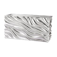 Lazy Susan Swirl Table Planter - Silver Leaf