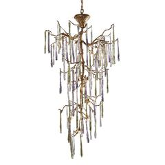 ELK lighting Stalavidri 15 Light Chandelier In Talha Bronze With Multi-Hued Spires