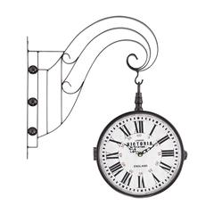 Sterling Double Sided Iron Scroll Wall Clock