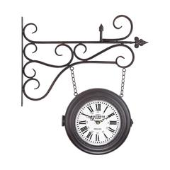 Sterling Double Sided Curled Iron Wall Clock