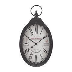 Sterling Oval Iron Wall Clock