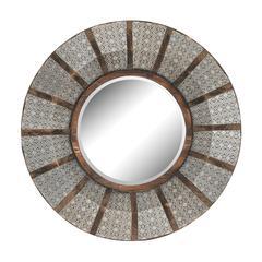 Sterling Pierced Metal Work Framed Mirror