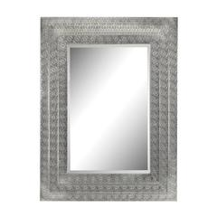 Pierced Metal Frame Work Frame Mirror