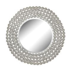Pierced Metal Frame Disks Mirror