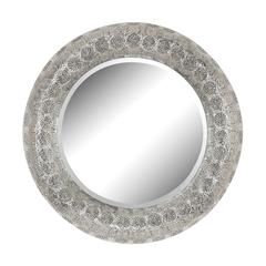 Sterling Embossed Frame Wall Mirror
