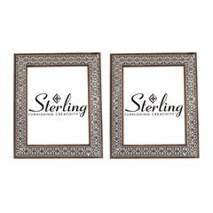 Sterling Set of 2 Pierced Metal Picture Frames