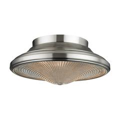 Urbano 2 Light Flushmount In Brushed Nickel