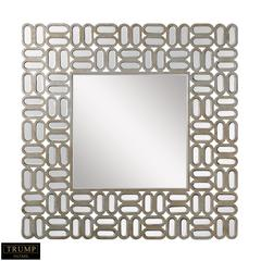 Dimond Home Square Alternating Oblong Mirror Silver,Gold Antique