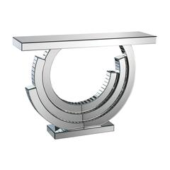 Layered Crescent Mirrored Console